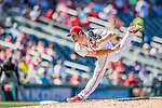 28 August 2016: Washington Nationals starting pitcher and Baseball America top prospect Lucas Giolito on the mound against the Colorado Rockies at Nationals Park in Washington, DC. The Rockies defeated the Nationals 5-3 to take the rubber match of their 3-game series. Mandatory Credit: Ed Wolfstein Photo *** RAW (NEF) Image File Available ***