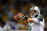PITTSBURGH, PA - JANUARY 23: Mark Sanchez #6 of the New York Jets throws a ball on the sidelines against the Pittsburgh Steelers in the AFC Championship Playoff Game at Heinz Field on January 23, 2011 in Pittsburgh, Pennsylvania. The Steelers defeated the Jets 24 to 19.(Photo by: Rob Tringali) *** Local Caption *** Mark Sanchez
