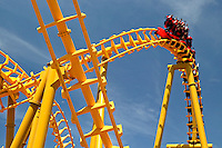 Magic Springs amusement park in Hot Springs, Arkansas rollercoaster ride..