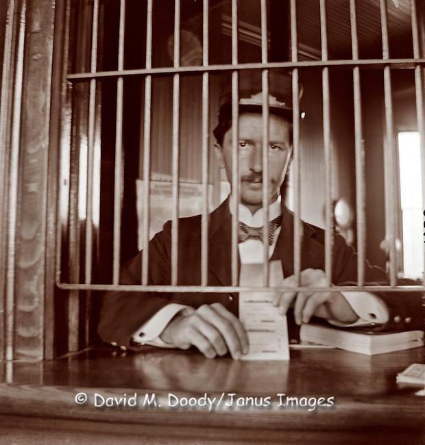 Railroad Ticket Agent Circa 1900 David M Doody Photo