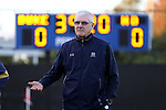 21 October 2016: Notre Dame head coach Bobby Clark (SCO). The Duke University Blue Devils hosted the University of Notre Dame Fighting Irish at Koskinen Stadium in Durham, North Carolina in a 2016 NCAA Division I Men's Soccer match. Duke won the game 2-1 in two overtimes.