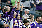 Minnesota Vikingsfans cheer as running back Adrian scores a touchdown against the Seattle Seahawks at CenturyLink Field in Seattle, Washington on  November 4, 2012.  The Seahawks beat the Vikings 30-20.    ©2012. Jim Bryant Photo. All Rights Reserved.