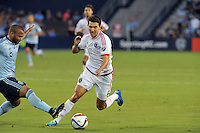 Kansas City, Kansas - Wednesday, August 19, 2015: The San Jose Earthquakes defeated Sporting Kansas City 5-0 at Sporting Park in an MLS game.