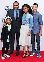 LOS ANGELES, CA, USA - NOVEMBER 23: Miles Brown, Anthony Anderson, Yara Shahidi, Marcus Scribner arrive at the 2014 American Music Awards held at Nokia Theatre L.A. Live on November 23, 2014 in Los Angeles, California, United States. (Photo by Xavier Collin/Celebrity Monitor)
