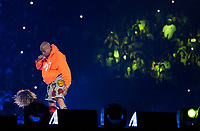 MIAMI, FL - APRIL 15: Chris Brown performs during The Party Tour at American Airlines Arena in Miami. April 15, 2017. <br /> CAP/MPIAG<br /> &copy;MPIAG/Capital Pictures