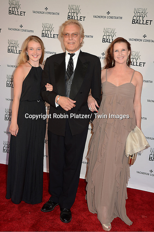 Peter Martins and daughterTalicia  and wife Darci Kistler attend the New York City Ballet Spring 2013  Gala on May 8, 2013 at The David H Koch Theater in LIncoln Center in New York City.