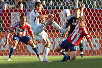 CD Chivas USA and Philadelphia Union played to 1-1 draw during a MLS match at Home Depot Center stadium in Carson, California on October 2, 2011.
