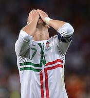 FUSSBALL  EUROPAMEISTERSCHAFT 2012   HALBFINALE Portugal - Spanien                  27.06.2012 Cristiano Ronaldo (Portugal) enttaeuscht