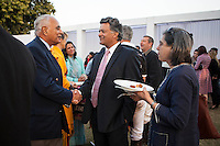 Argyle Pink Diamonds Managing Director Nik Senapati (center) mingles with other guests at the high tea event after the Argyle Pink Diamond Cup, organised as part of the 2013 Oz Fest in the Rajasthan Polo Club grounds in Jaipur, Rajasthan, India on 10th January 2013. Photo by Suzanne Lee
