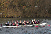 35 IM3.8+ Abingdon Sch A..Reading University Boat Club Head of the River 2012. Eights only. 4.6Km downstream on the Thames form Dreadnaught Reach and Pipers Island, Reading. Saturday 25 February 2012.