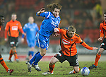 St Johnstone v Dundee United....22.02.11 .Scott Robertson battles with Stevie May.Picture by Graeme Hart..Copyright Perthshire Picture Agency.Tel: 01738 623350  Mobile: 07990 594431