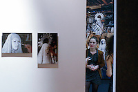 """Stamford, CT. 11 October 2014. Colombian Artist Evelin Velasquez attends the Opening of her solo Exhibit """"Transfigurations"""" at the Fernando Luis Alvarez Gallery in Stamford . Photo by Eduardo Munoz/VIEWpress"""