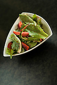 Zelly & Ritz, 301 Glenwood Ave., Ste. 100, Raleigh, offers an Organic Coon Rock Farm Mixed Green Salad with fresh Strawberies and Strawberry Vinaigrette.