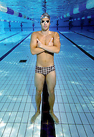 Alexander Dale Oen , Norwegian national swimming team training in an outdoor  pool. Frognerbadet, Oslo, Norway..&copy; Fredrik Naumann/Felix Features