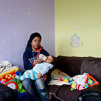 Antonia Francisco, 32, is a sales advisor living with her daughter Samara, 11 and 3-month old son Samuel  in south west London.<br /> <br /> 'I work part-time in Halfords as a sales advisor. My husband Sergio started working in TK Maxx this month.  Before it was just me [supporting us financially] but I am on maternity. My husband changed his job to support me when I was in hospital for pre-eclampsia.  He did a night shift 1hr 20 mins away across London. He wanted to transfer to look after me. The only choice Tesco gave him was you have to leave the job or leave your wife by herself&hellip;.. <br /> <br /> Sergio is asthmatic, he can't stay in this place, so lives with a friend in East London, one day here one day there, because of the damp. I was spending &pound;200 on painting to clean the house. There was damp everywhere, they replaced the window at Christmas. I was getting unwell from the damp. It's really strong, the smell and I had to go every week with [my son] Samuel to the GP because he was really cold and had the flu. He couldn't eat&hellip;.. <br /> <br /> I felt stressed and was on medication [for depression] which I finished three weeks ago. I started in January this year. I was nervous because I didn't know how it was but then people from church were talking to me very nicely to make me feel calm. I feel better now&hellip;.. <br /> <br /> From the beginning I felt very embarrassed about using the food bank but I met the ladies who were very nice. I have been since November till now, every Monday, to get nappies and food. I was in front of the church and thought shall I go or not?.<br /> <br /> Sometimes I had to go without eating for a weekend. I had to be strong because of my daughter Samara, I can't show her how I was feeling&hellip;. <br /> <br /> She asks when she is going to have a room so she can invite her friends&hellip;. <br /> Samara is going to secondary school in September and this is a two bedroom. She doesn't have space&hellip; We are still waiting for an answer from social housing [about the new flat], it's been a month, we are still waiting.'