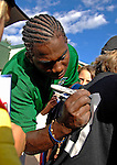 30 June 2007: Vermont Lake Monsters infielder Jonathan Martinez signs an autograph prior to a game against the Lowell Spinners at Centennial Field in Burlington, Vermont. The Spinners defeated the Lake Monsters 8-2 in the last game of their 3-game NY Penn-League series...Mandatory Photo Credit: Ed Wolfstein Photo