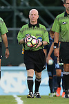 05 September 2016: Referee John Brady. The University of North Carolina Tar Heels hosted the Virginia Commonwealth University Rams at Fetzer Field in Chapel Hill, North Carolina in a 2016 NCAA Division I Men's Soccer match. UNC won the game 3-2.