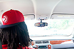 Rapper Waka Flocka drives through Atlanta, Georgia August 17, 2010.