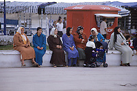 Essaouira, Morocco - Moroccan Women Gather in the Public Square to Talk, Place Moulay El-Hassan
