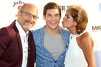 HOLLYWOOD, CA - JUNE 29: Dennis DeVine, Adam Devine, Penny DeVine at the premiere of Mike And Dave Need Wedding Dates at ArcLight Cinemas Cinerama Dome on June 29, 2016. Credit: David Edwards/MediaPunch