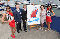 ****NO FEE PIC****.(L to r).French Mademoiselle Suzanne McCabe.Peter Ryan from the National Yacht Club.Her Excellency Emmanuelle D'Achon French Ambassador to Ireland.An Cathaoirleach of DLR, Cllr. Lettie McCarthy.French Mademoiselle Sinead Noonan .at the National Yacht Club Dun Laoghaire to launch Festival Des Bateaux which takes place between August 11th and 14th 2011 .Dun Laoghaire will be the only international stop on the world famous French Solitaire du Figaro yacht race.  To celebrate the stopover of this iconic 3,390 km race, Dun Laoghaire Rathdown County Council, the Dun Laoghaire Harbour Company and the National Yacht Club have joined forces to create Festival des Bateaux.  The harbour will be a magnificent tapestry of colour as the boats arrive for this international event.  Dun Laoghaire will be resplendent with fireworks, music and the sights, sounds, foods, and 'joie de vivre' of France..Photo: Gareth Chaney Collins