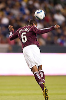 Anthony Wallace (6) defender of the Colorado Rapids with a clearing ball. The Colorado Rapids defeated CD Chivas USA 1-0 at Home Depot Center stadium in Carson, California on Saturday March 26, 2011...