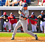 8 March 2009: New York Mets' outfielder Kirk Nieuwenhuis in action during a Spring Training game against the Washington Nationals at Space Coast Stadium in Viera, Florida. The Nationals defeated the Mets 8-3 in the Grapefruit League matchup. Mandatory Photo Credit: Ed Wolfstein Photo