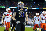 Cort Dennison. The UW defeats Nebraska in the 2010 Bridgepoint Education Holiday Bowl 19-7 at Qualcomm Stadium in San Diego. (Photography By Scott Eklund/Red Box Pictures)