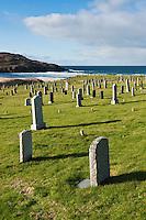 Coastal cemetery at Dalmore beach, Isle of Lewis, Outer Hebrides, Scotland