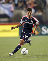 New England Revolution forward Benny Feilhaber (22). In a Major League Soccer (MLS) match, the New England Revolution defeated Vancouver Whitecaps FC, 4-1, at Gillette Stadium on May 12, 2012.