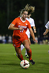 20 October 2013: Clemson's Kylie Tawney. The University of North Carolina Tar Heels hosted the University of Virginia Cavaliers at Fetzer Field in Chapel Hill, NC in a 2013 NCAA Division I Women's Soccer match. North Carolina won the game 2-0.