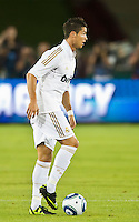 LOS ANGELES, CA – July 16, 2011: Cristiano Ronaldo (7) of Real Madrid during the match between LA Galaxy and Real Madrid at the Los Angeles Memorial Coliseum in Los Angeles, California. Final score Real Madrid 4, LA Galaxy 1.