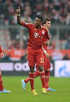 FUSSBALL  CHAMPIONS LEAGUE  VIERTELFINALE  HINSPIEL  2012/2013      FC Bayern Muenchen - Juventus Turin       02.04.2013 David Alaba (FC Bayern Muenchen) bejubelt seinen Treffer zum 1:0