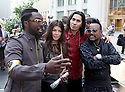 The music group the BlackEyed Peas get ready to perform on the taping of  the Oprah Winfrey Show in Chicago September 8, 2009.  The show airs on September 10.