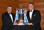 St Johnstone FC Scottish Cup Celebration Dinner at Perth Concert Hall...01.02.15<br /> Alistair Stevenson and George Browning<br /> Picture by Graeme Hart.<br /> Copyright Perthshire Picture Agency<br /> Tel: 01738 623350  Mobile: 07990 594431