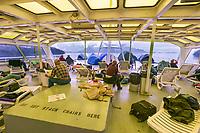 Solarium deck of the Columbia ferry, southeast Alaska