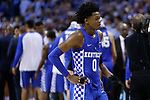 Kentucky Wildcats guard De'Aaron Fox reacts after losing to the North Carolina Tar Heels during the 2017 NCAA Men's Basketball Tournament South Regional Elite 8 at FedExForum in Memphis, TN on Friday March 24, 2017. Photo by Michael Reaves | Staff