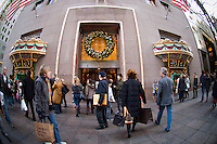 The windows of the Tiffany and Co. flagship store on Fifth Avenue in Midtown Manhattan on Black Friday, November 25, 2011. (© Frances M. Roberts)