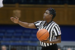 17 November 2016: Official Angela Lewis. The Duke University Blue Devils hosted the Grand Canyon University Antelopes at Cameron Indoor Stadium in Durham, North Carolina in a 2016-17 NCAA Division I Women's Basketball game. Duke won the game 90-47.