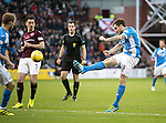 Hearts v St Johnstone&hellip;05.11.16  Tynecastle   SPFL<br />Paul Paton&rsquo;s shot goes wide<br />Picture by Graeme Hart.<br />Copyright Perthshire Picture Agency<br />Tel: 01738 623350  Mobile: 07990 594431