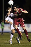 10 November 2010: BC's Conor Fitzpatrick (8) and Duke's Rob Dolot (24). The Duke University Blue Devils played the Boston College Eagles at Koka Booth Stadium at WakeMed Soccer Park in Cary, North Carolina in an ACC Men's Soccer Tournament Quarterfinal game.