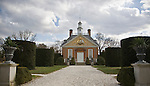 Governor's Palace, as seen from the gardens in the back, at Colonial Williamsburg, Virginia.