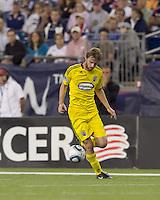 Columbus Crew midfielder Eddie Gaven (12) at midfield. The New England Revolution tied Columbus Crew, 2-2, at Gillette Stadium on September 25, 2010.
