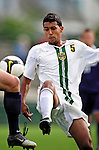 11 September 2009: University of Vermont Catamount forward/midfielder Juan Peralta, a Junior from Queens, NY, in action against the University of Portland Pilots in the first round of the 2009 Morgan Stanley Smith Barney Soccer Classic held at Centennial Field in Burlington, Vermont. The Catamounts and Pilots battled to a 1-1 double-overtime tie. Mandatory Photo Credit: Ed Wolfstein Photo