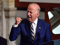 Vice Pres Biden campaigns for Clinton in Philadelphia