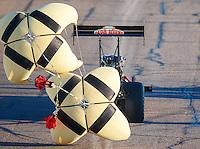 Feb 24, 2017; Chandler, AZ, USA; NHRA top fuel driver Leah Pritchett during qualifying for the Arizona Nationals at Wild Horse Pass Motorsports Park. Mandatory Credit: Mark J. Rebilas-USA TODAY Sports
