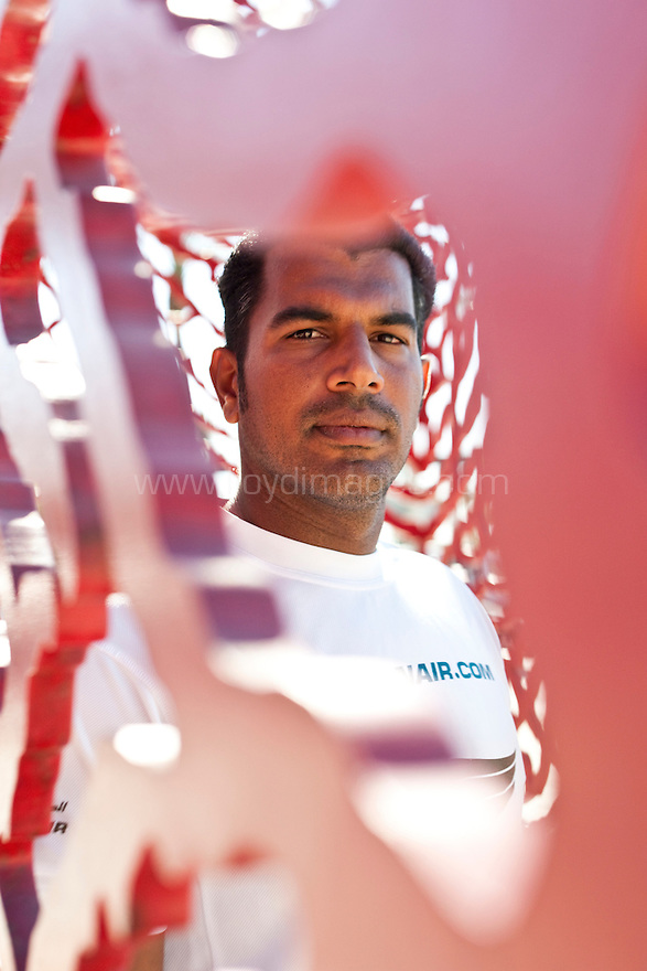14th October 2011. Extreme Sailing Series 2011 - Act 8. Almeria. Spain.Oman Air bowman: Nasser Al Mashari (OMA)