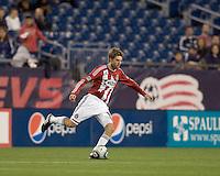 Chivas USA midfielder Blair Gavin (18) passes the ball. Chivas USA defeated the New England Revolution, 4-0, at Gillette Stadium on May 5, 2010.