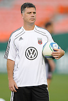 DC United Assistant  Coach Kris Kelderman.  FC Dallas defeated DC United 3-1 at RFK Stadium, Saturday August 14, 2010.