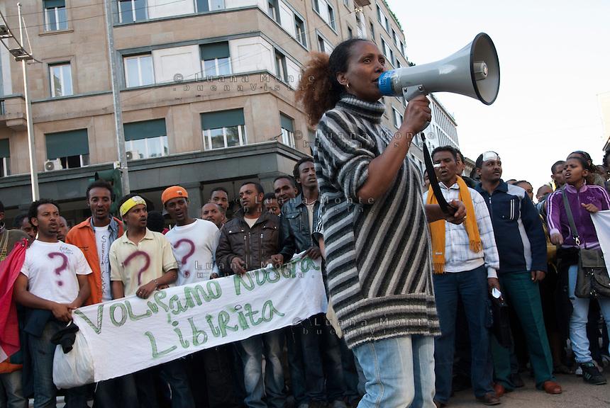 Rifugiati e profughi in protesta a Milano